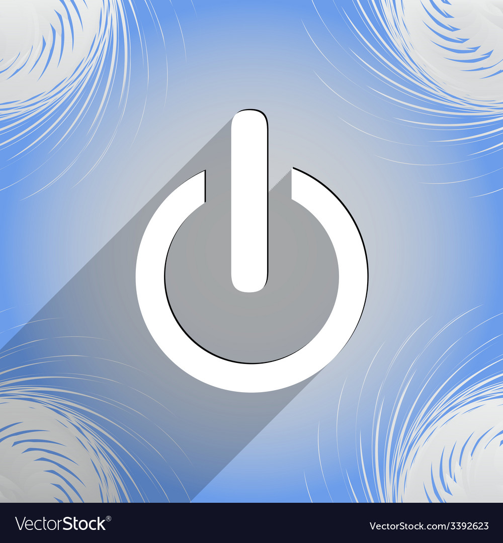 Power icon symbol flat modern web design with long vector | Price: 1 Credit (USD $1)