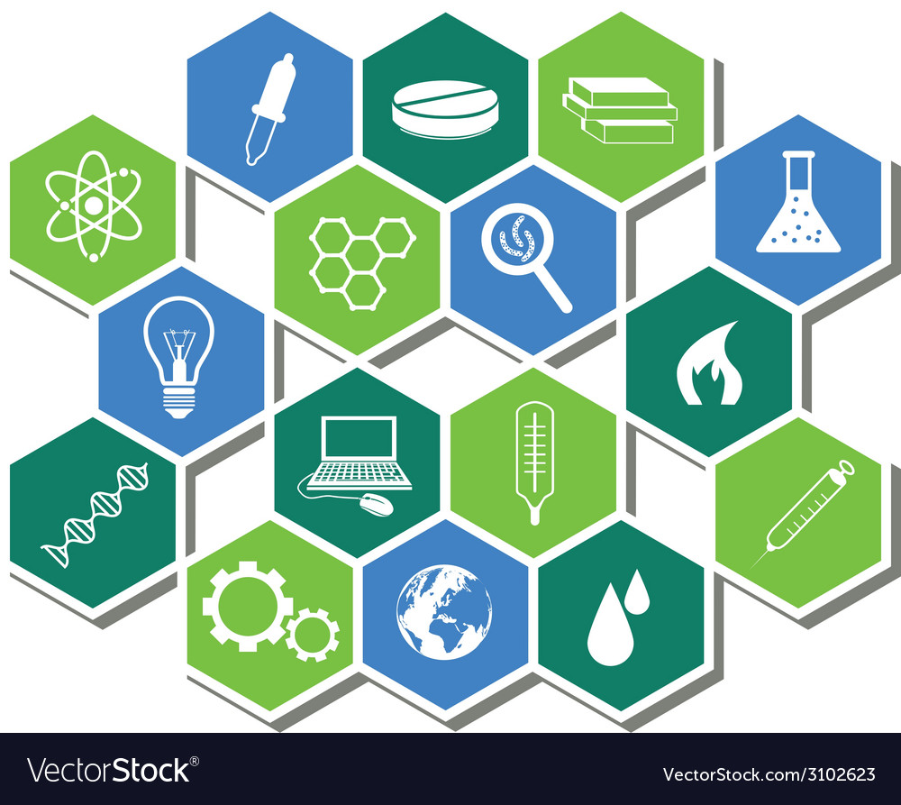Science icons vector | Price: 1 Credit (USD $1)