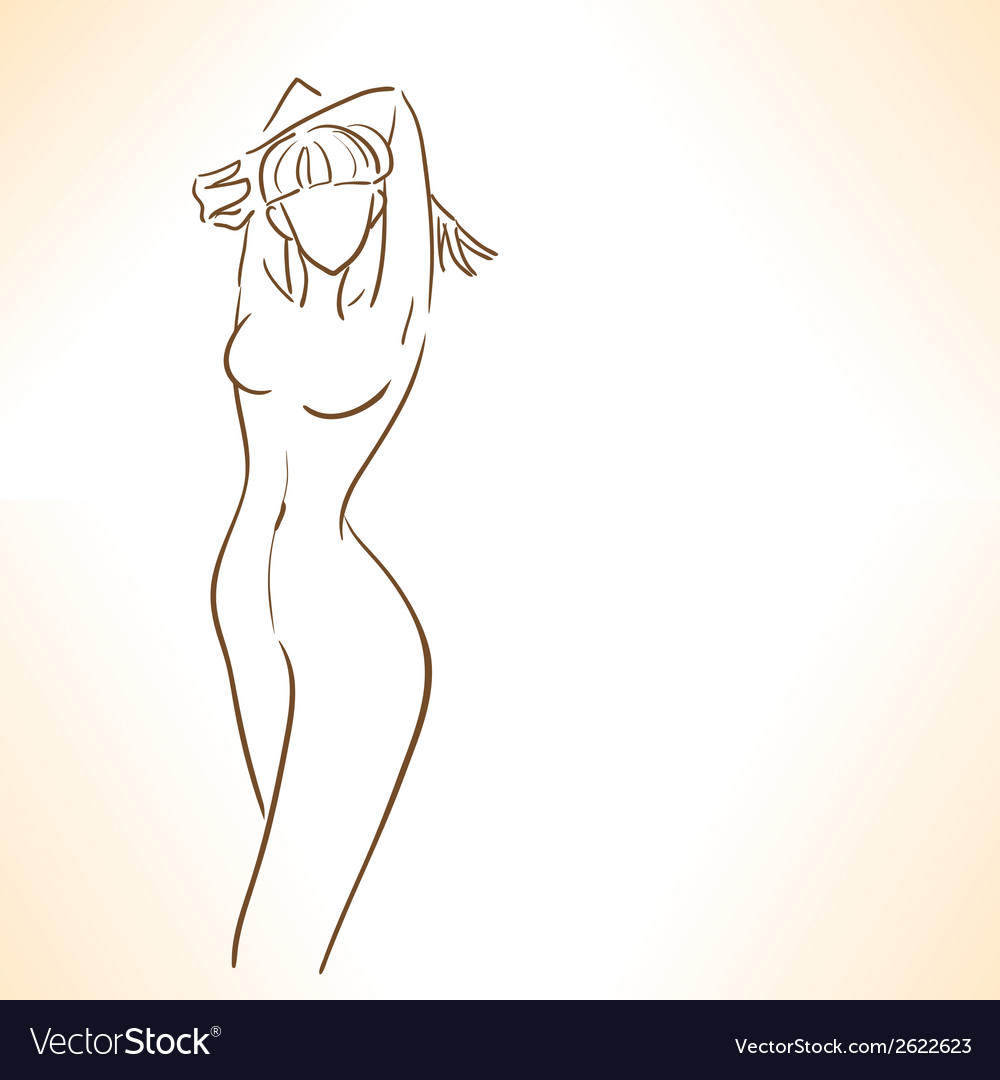 Silhouette of girl with perfectly slim figure vector | Price: 1 Credit (USD $1)
