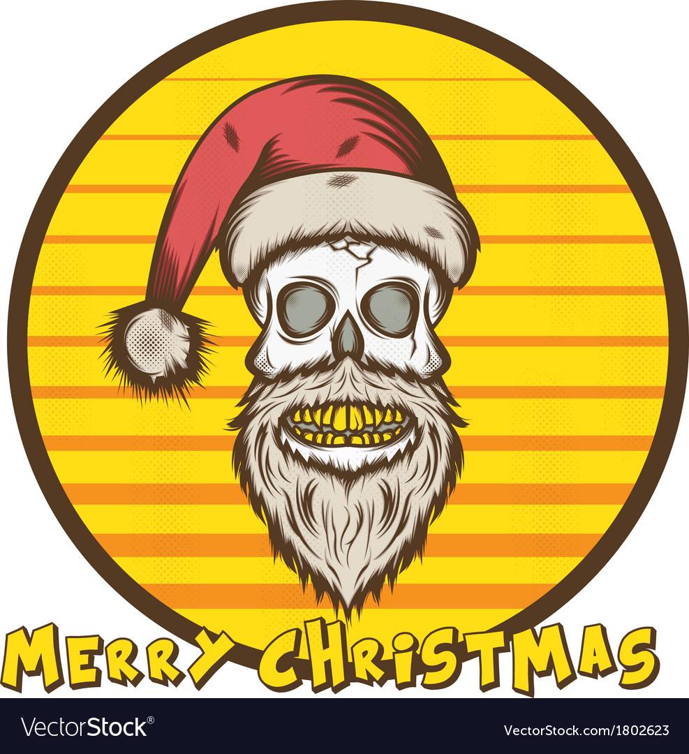 Skull santa christmas edition vector | Price: 1 Credit (USD $1)