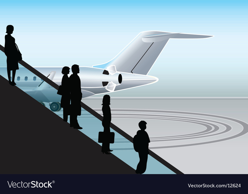 Airport escalator vector