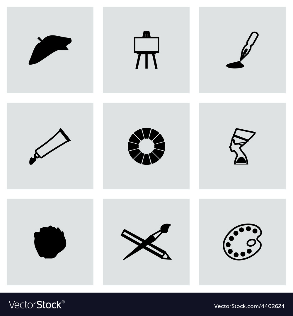 Art icon set vector | Price: 1 Credit (USD $1)