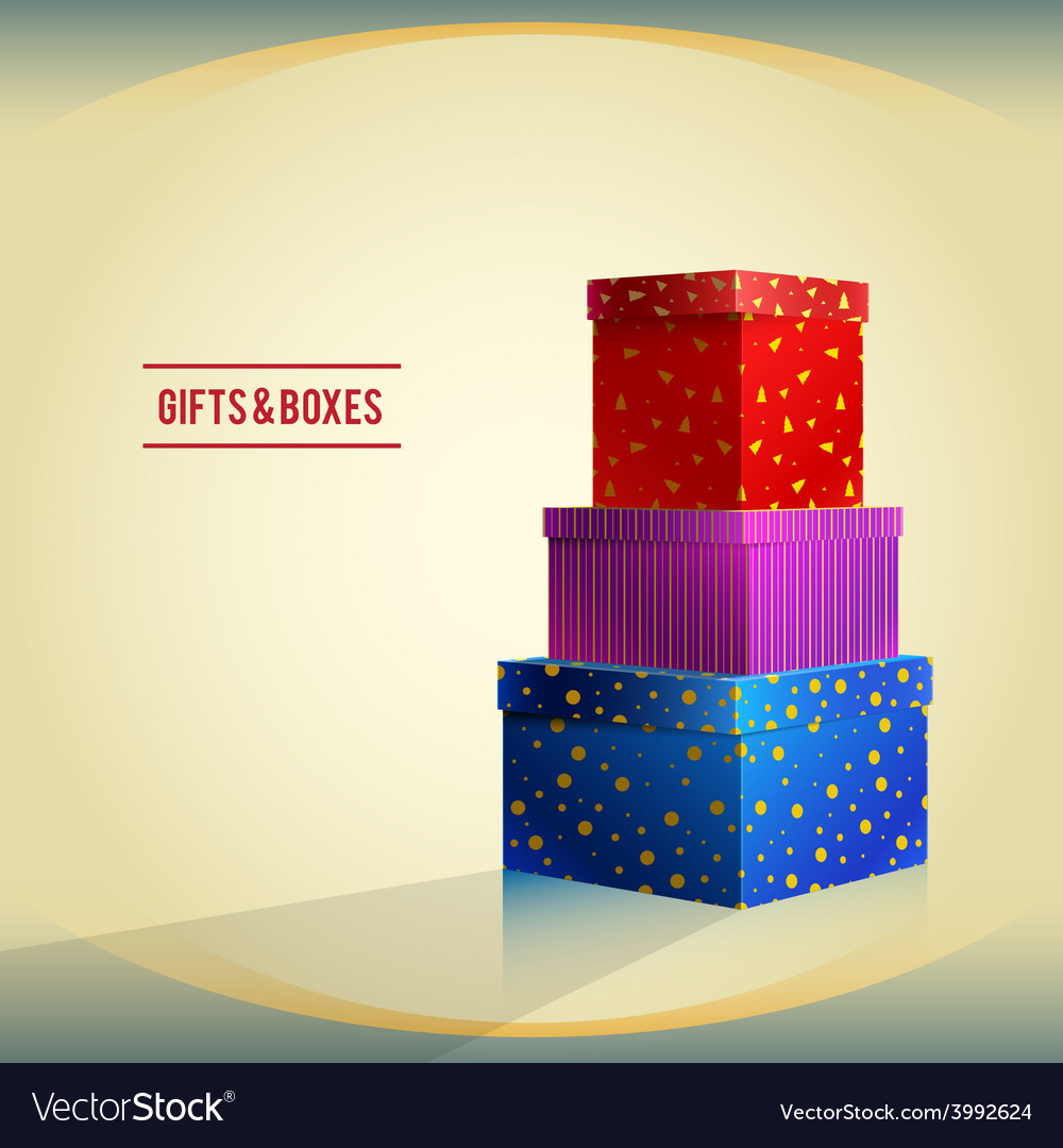 Boxes 01 vector | Price: 1 Credit (USD $1)