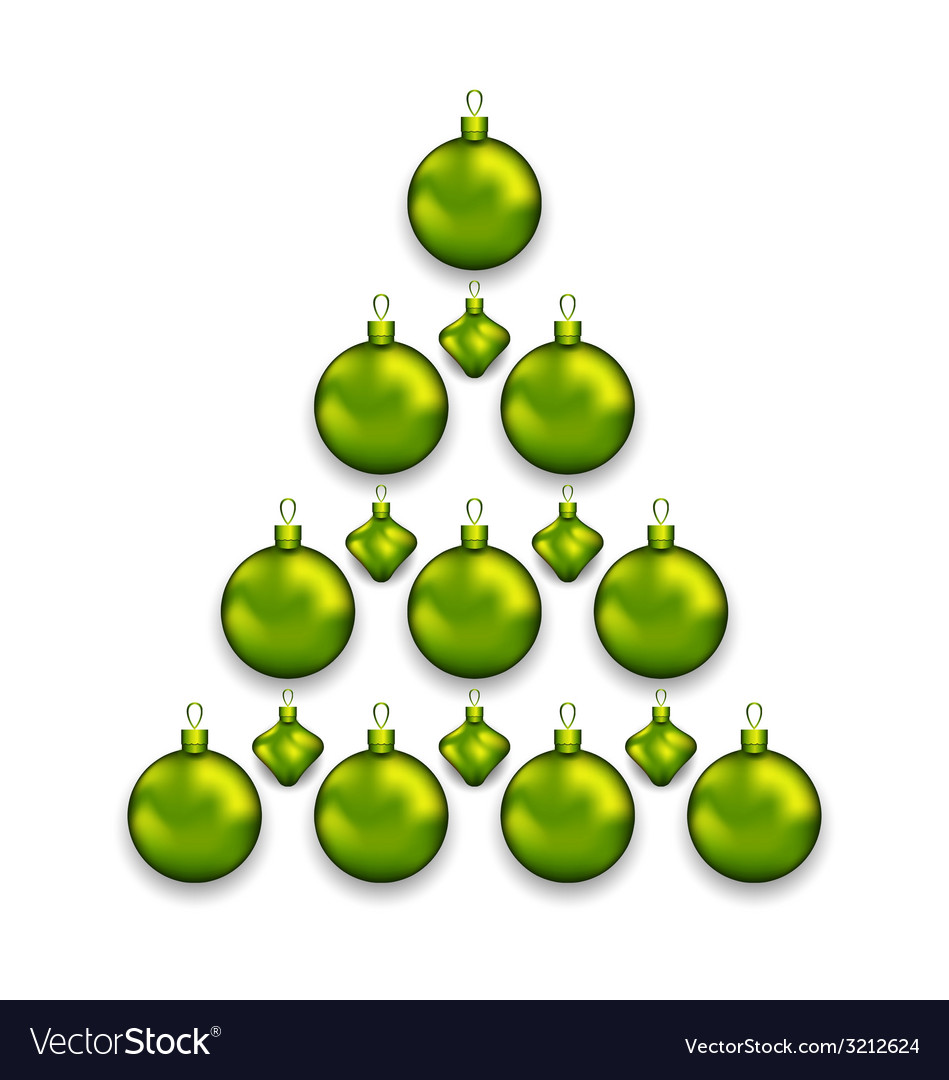 Christmas tree made of glass balls isolated on vector | Price: 1 Credit (USD $1)