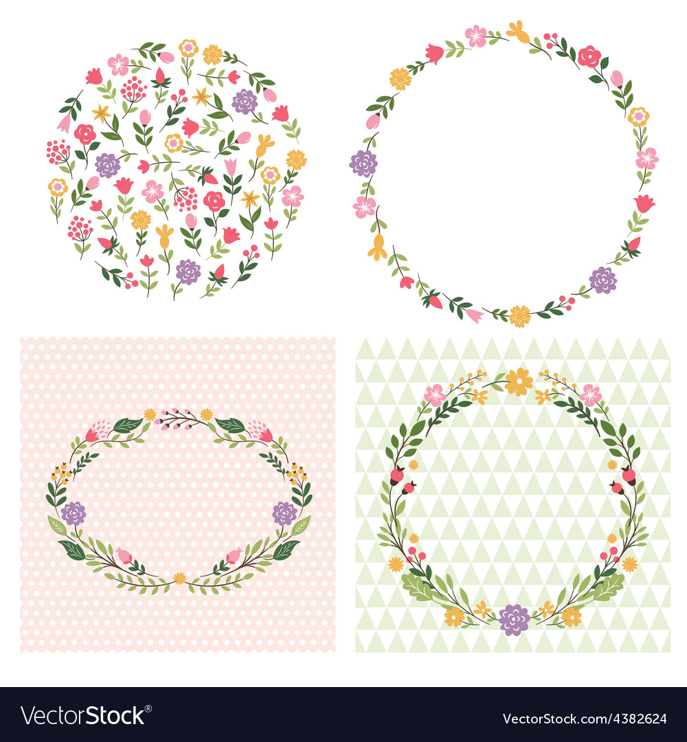 Floral frames place for text vector | Price: 1 Credit (USD $1)