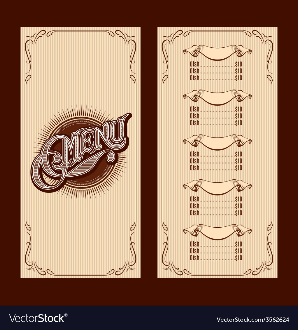 Template for the cover of the menu vector | Price: 1 Credit (USD $1)