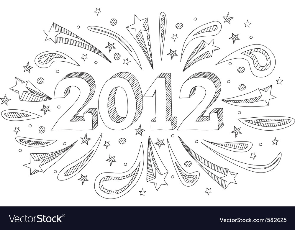 2012 doodle vector | Price: 1 Credit (USD $1)