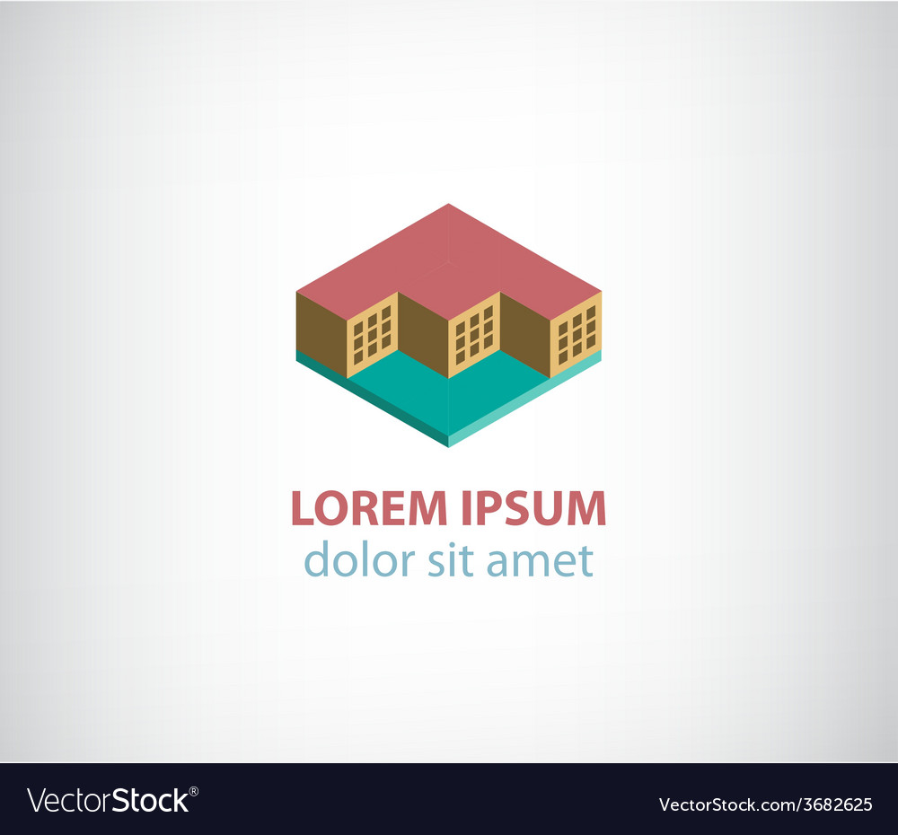 3d cubes building apartment logo isolated vector   Price: 1 Credit (USD $1)