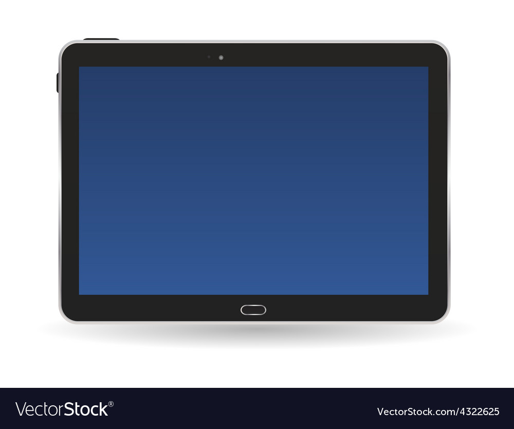 Black tablet pc vector | Price: 1 Credit (USD $1)