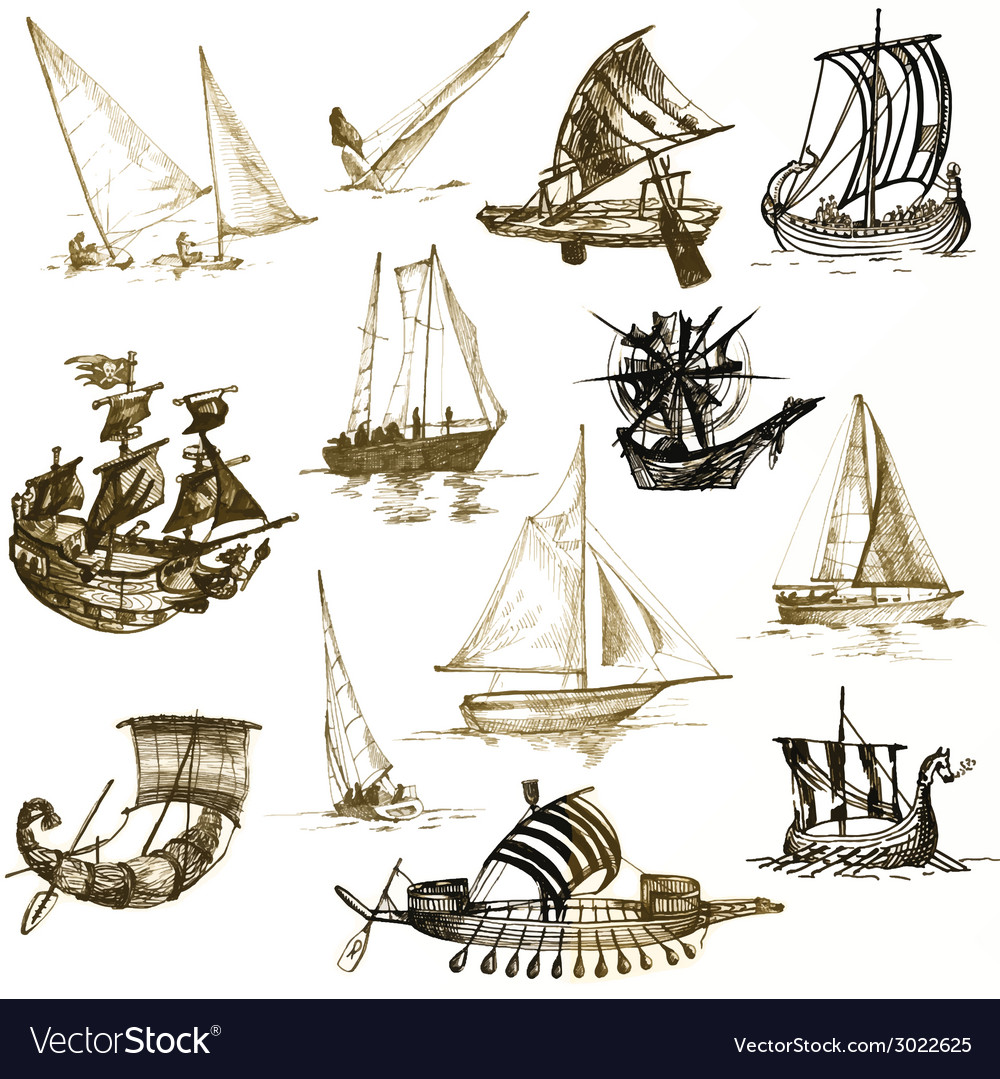 Boats vector | Price: 1 Credit (USD $1)