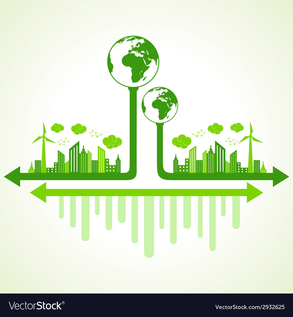 Ecology concept with eco earth vector   Price: 1 Credit (USD $1)