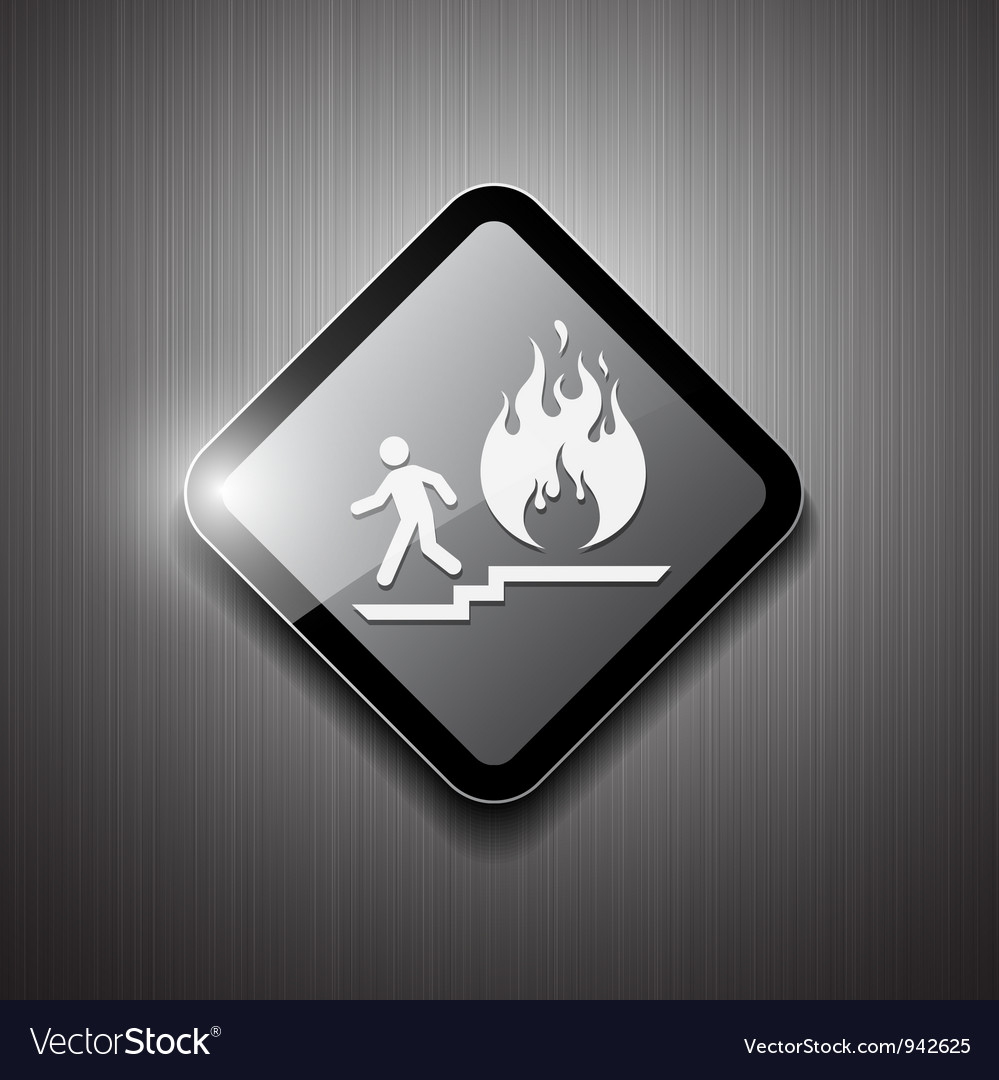 Fire exit sign modern design vector | Price: 1 Credit (USD $1)