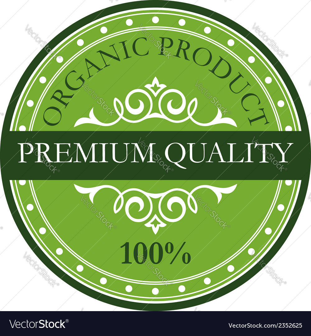 Green colored premium quality label vector | Price: 1 Credit (USD $1)