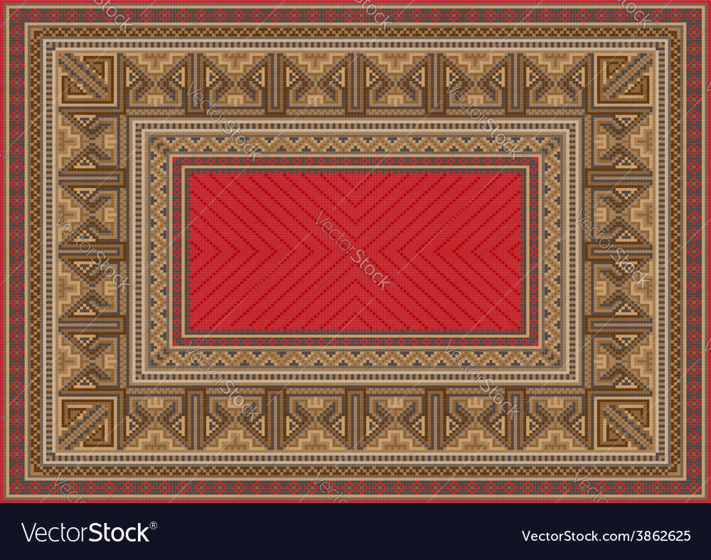 Luxurious oriental carpet with original pattern vector | Price: 1 Credit (USD $1)