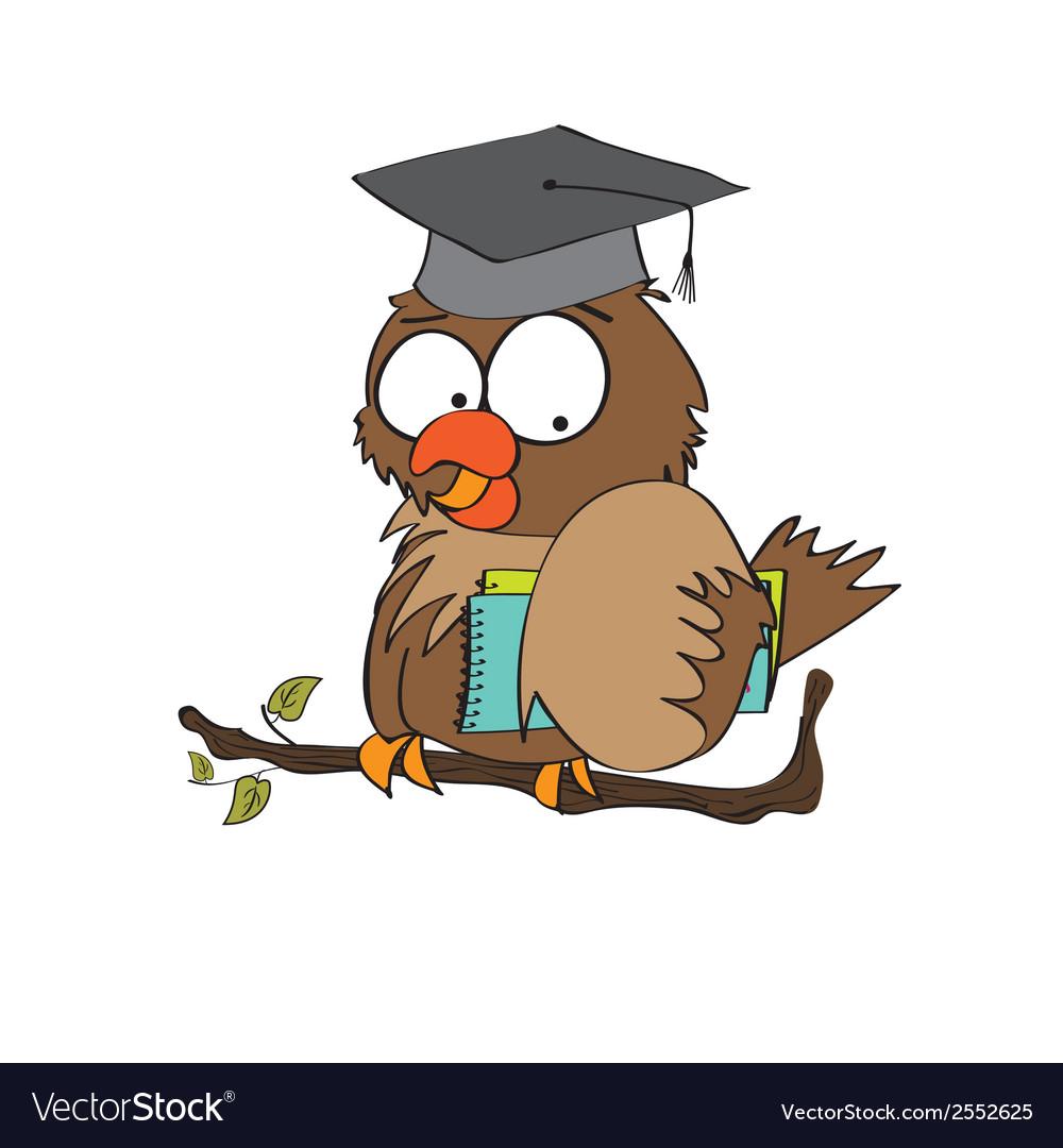 Owl teacher in format vector | Price: 1 Credit (USD $1)