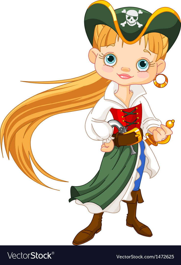Pirate girl vector | Price: 3 Credit (USD $3)