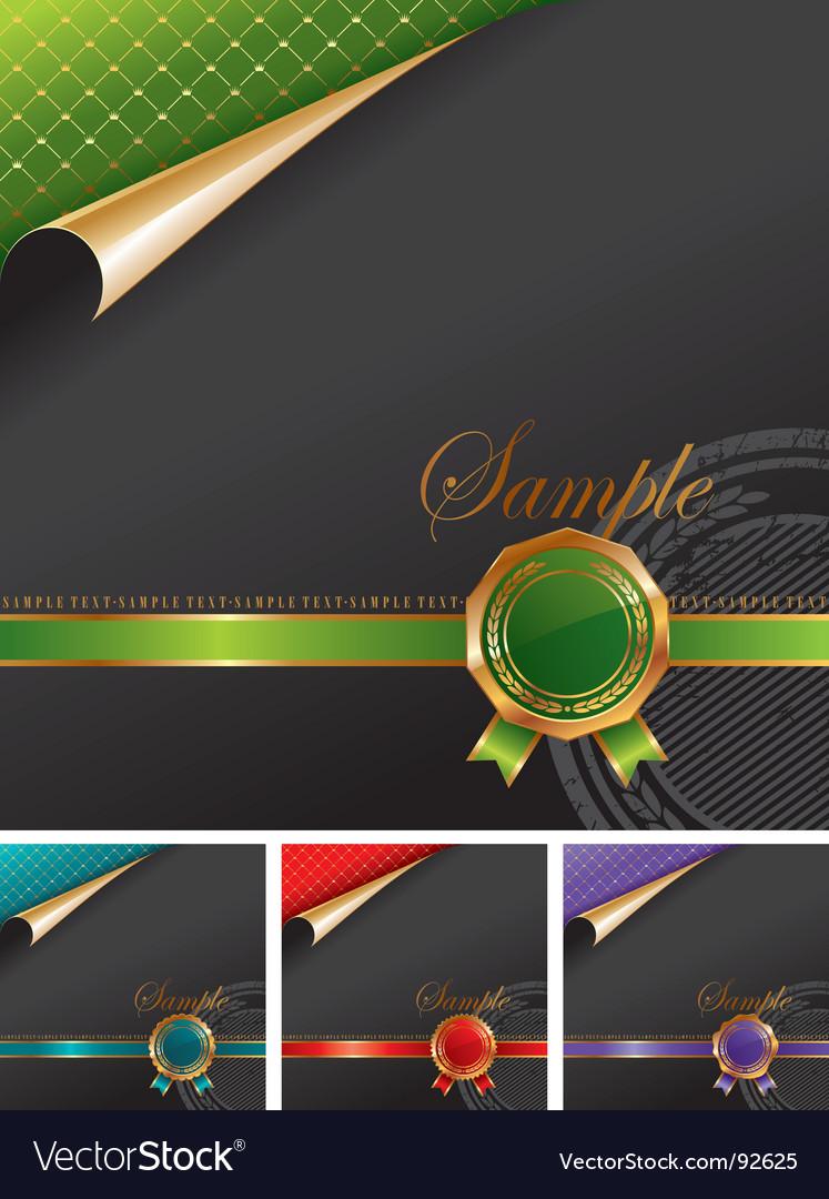 Royal design with golden seal vector