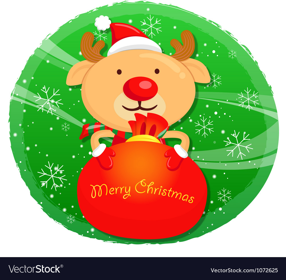 Rudolph mascot the event activity christmas chara vector | Price: 3 Credit (USD $3)
