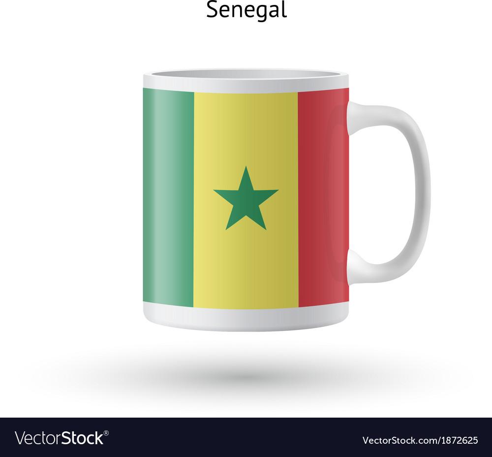 Senegal flag souvenir mug on white background vector | Price: 1 Credit (USD $1)