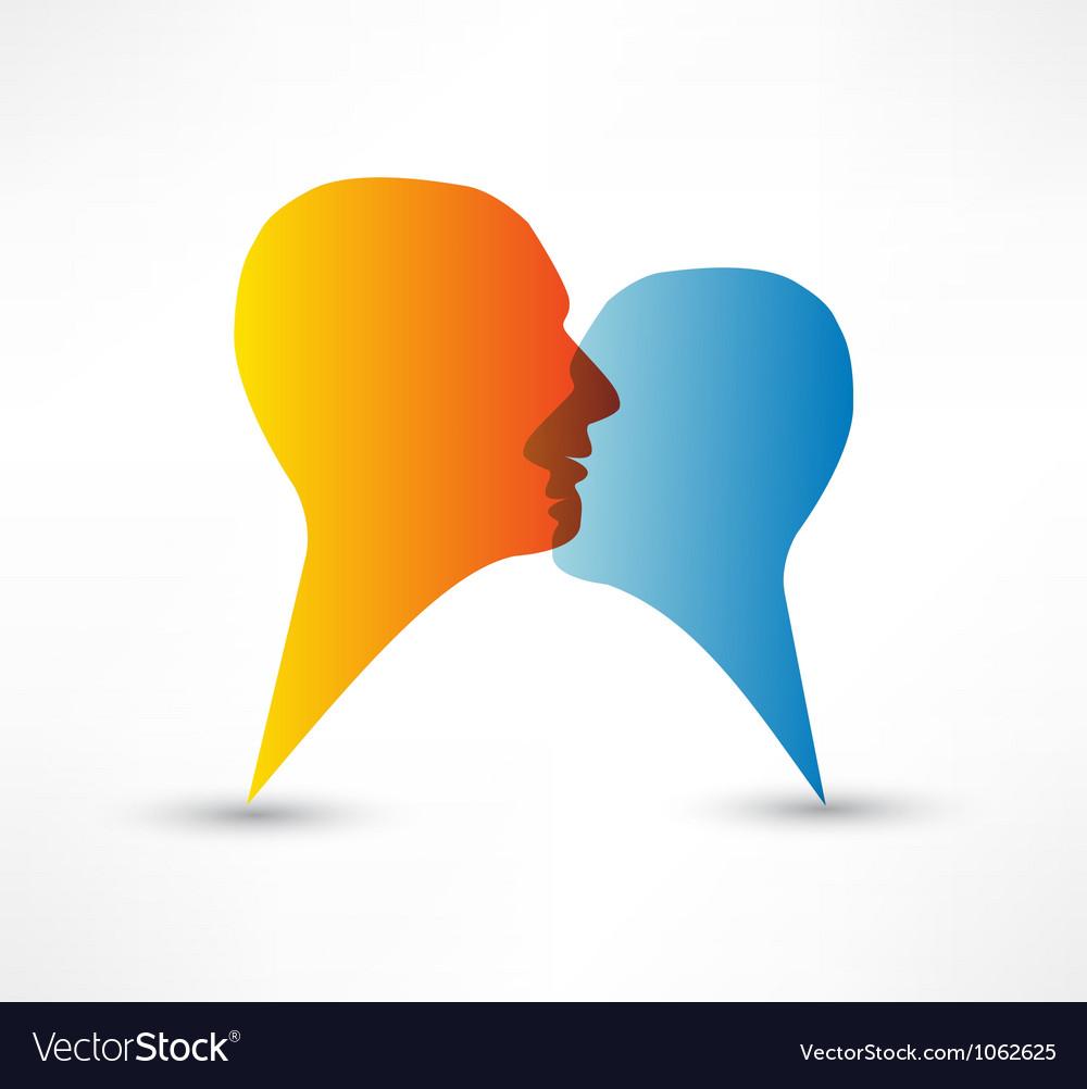 Talk me concept speech bubbles vector   Price: 1 Credit (USD $1)
