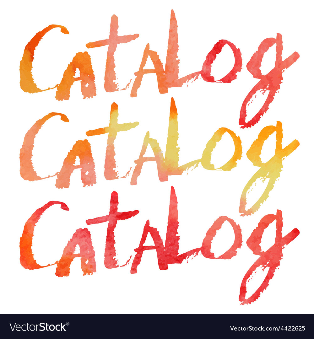 Watercolor lettering catalog vector | Price: 1 Credit (USD $1)