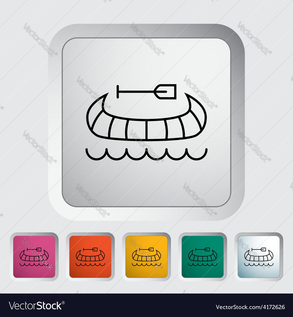 Canoe icon vector | Price: 1 Credit (USD $1)