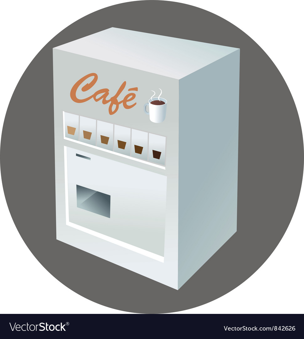 Coffee vending machine vector | Price: 1 Credit (USD $1)