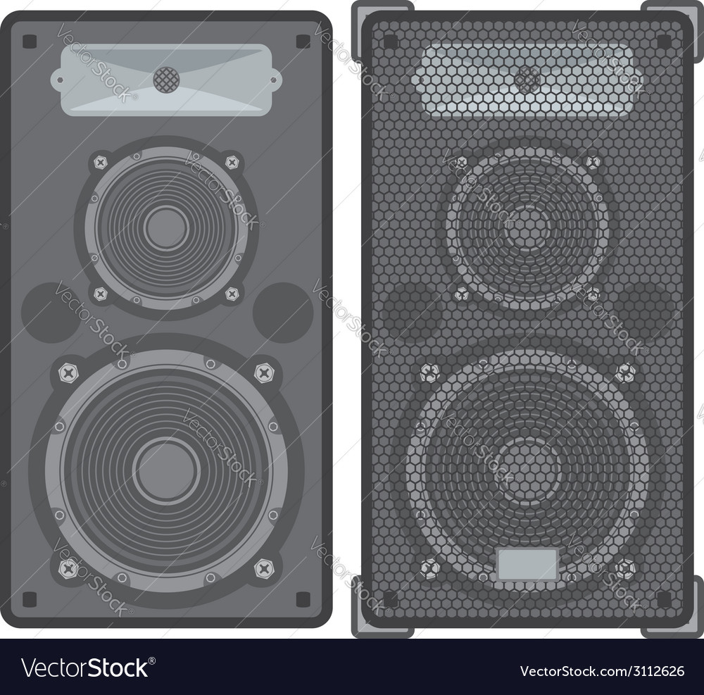 Concert speakers vector | Price: 1 Credit (USD $1)