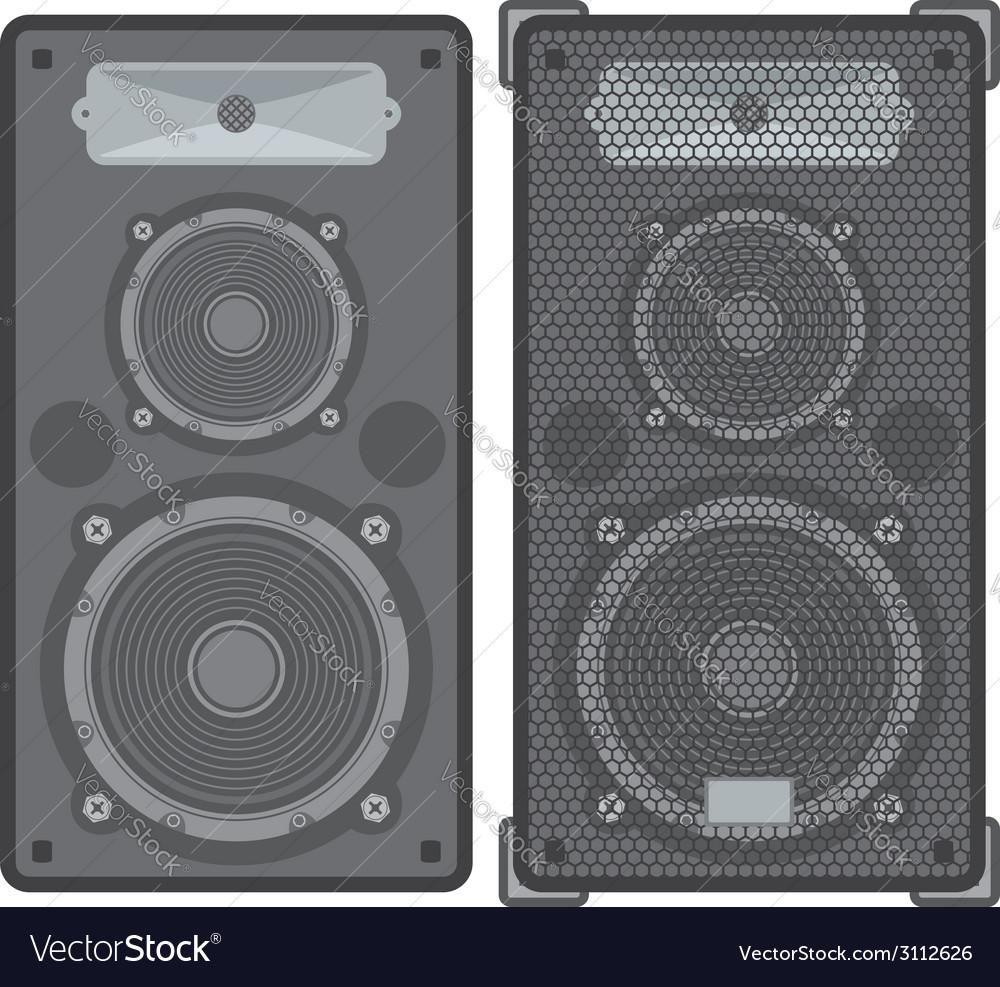Concert speakers vector | Price: 1 Credit (USD $1)