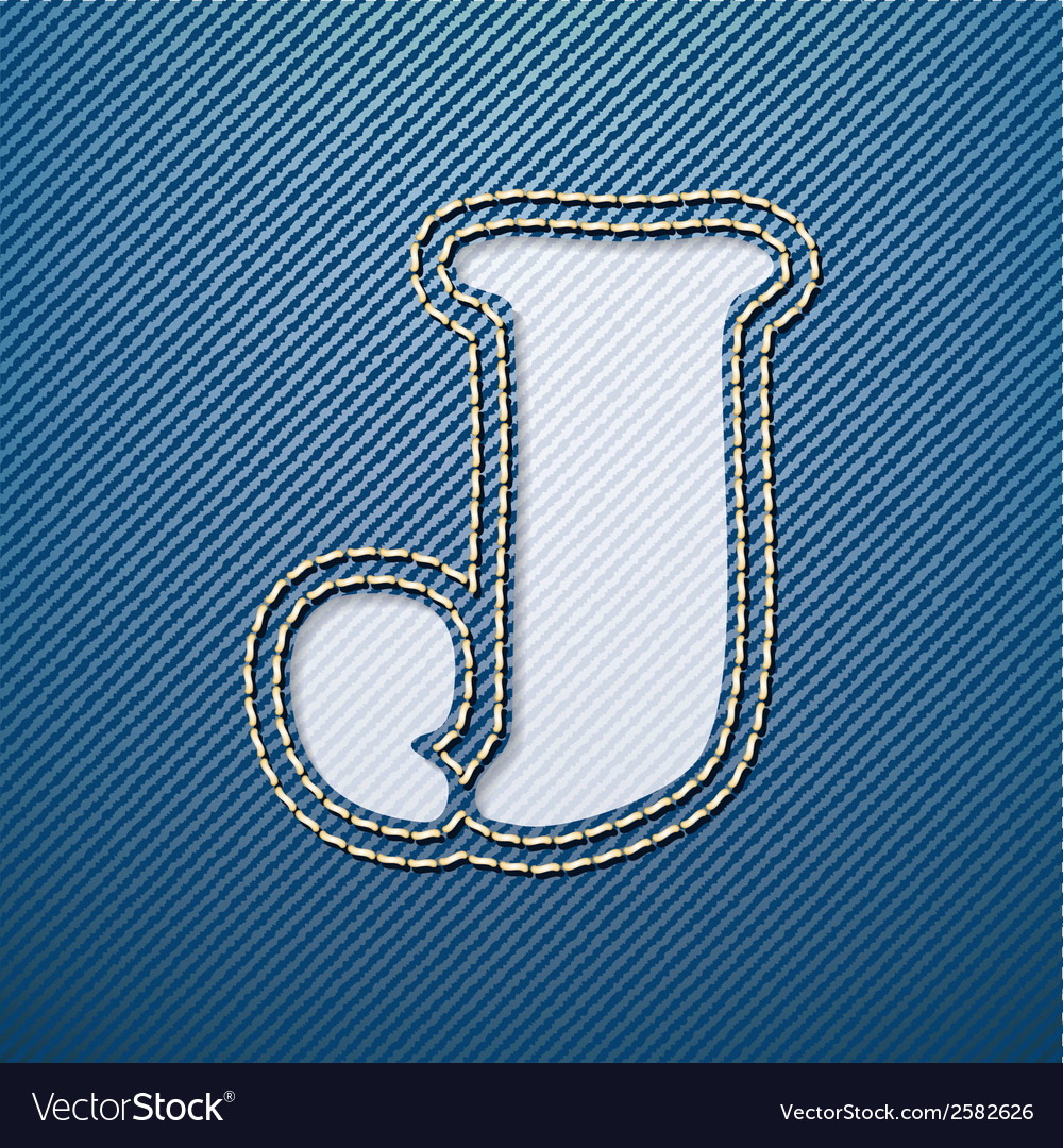 Denim jeans letter j vector | Price: 1 Credit (USD $1)