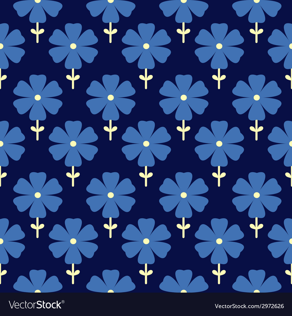 Floral seamless pattern flowers background vector | Price: 1 Credit (USD $1)