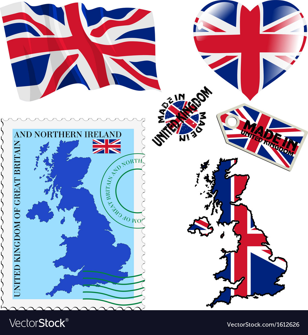 National colours of united kingdom vector | Price: 1 Credit (USD $1)