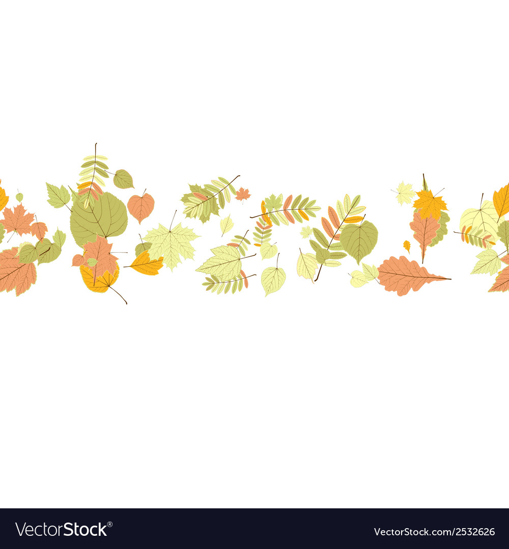 Seamless autumn leaves pattern vector | Price: 1 Credit (USD $1)