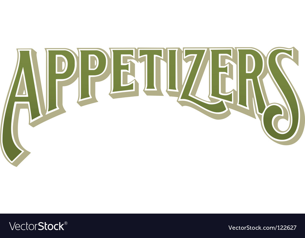 Appetizers vector | Price: 1 Credit (USD $1)