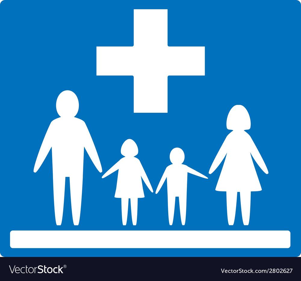 Family medicine icon vector | Price: 1 Credit (USD $1)