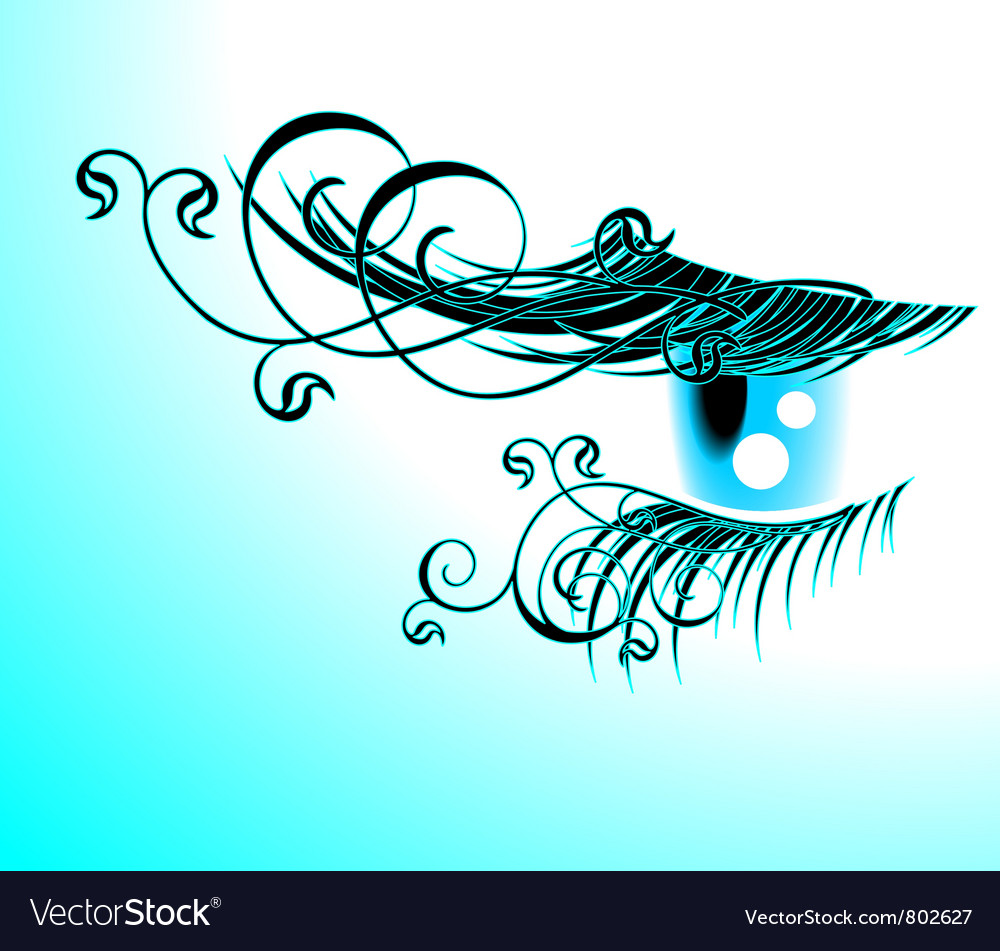 Floral eyelashes vector | Price: 1 Credit (USD $1)