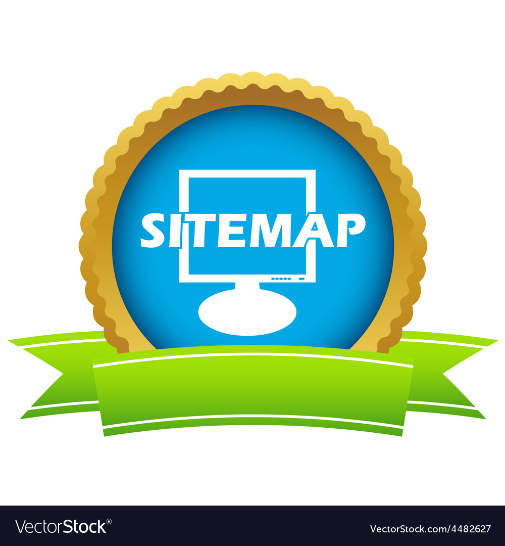 Gold sitemap logo vector | Price: 1 Credit (USD $1)