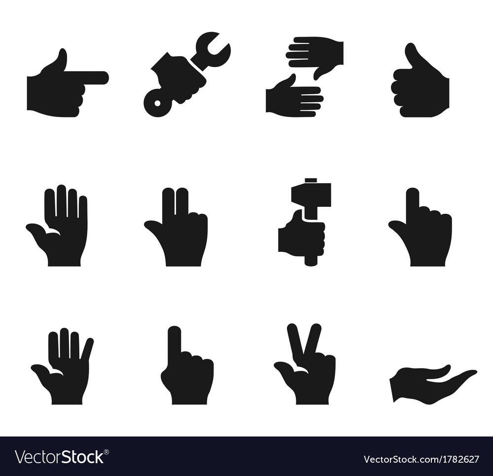 Hand an icon vector | Price: 1 Credit (USD $1)