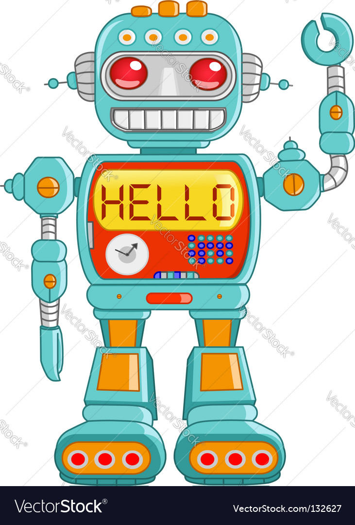 Hello robot vector | Price: 1 Credit (USD $1)