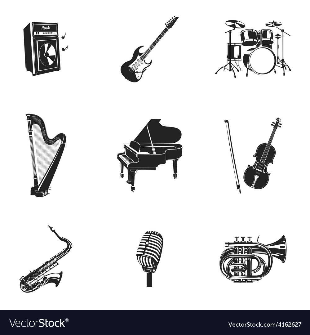 Musical instruments and equipment set vector | Price: 1 Credit (USD $1)