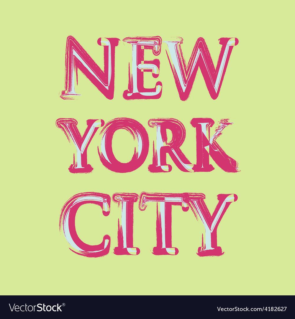 New york flag typography t-shirt graphics vector | Price: 1 Credit (USD $1)