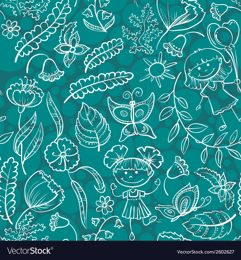 Pattern with children vector | Price: 1 Credit (USD $1)