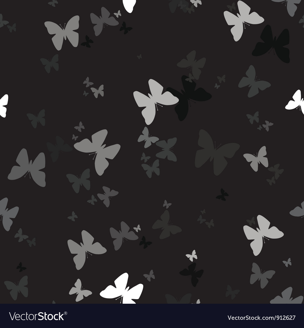 Seamless background with pattern of butterfly vector | Price: 1 Credit (USD $1)