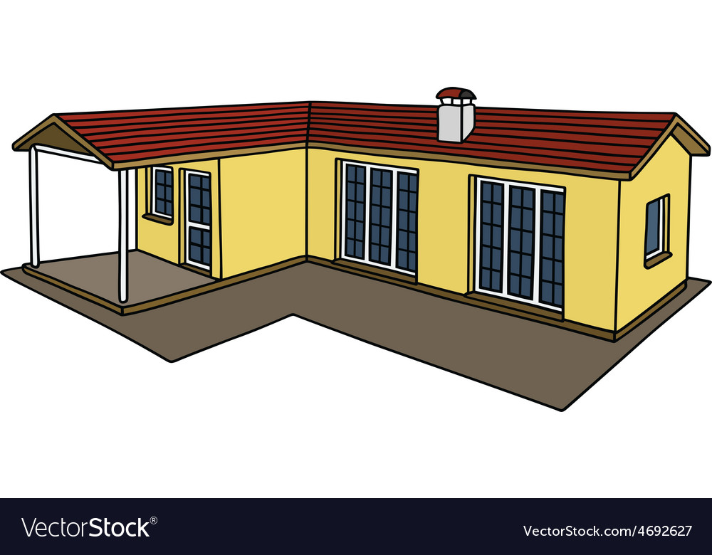 Yellow small house vector | Price: 1 Credit (USD $1)
