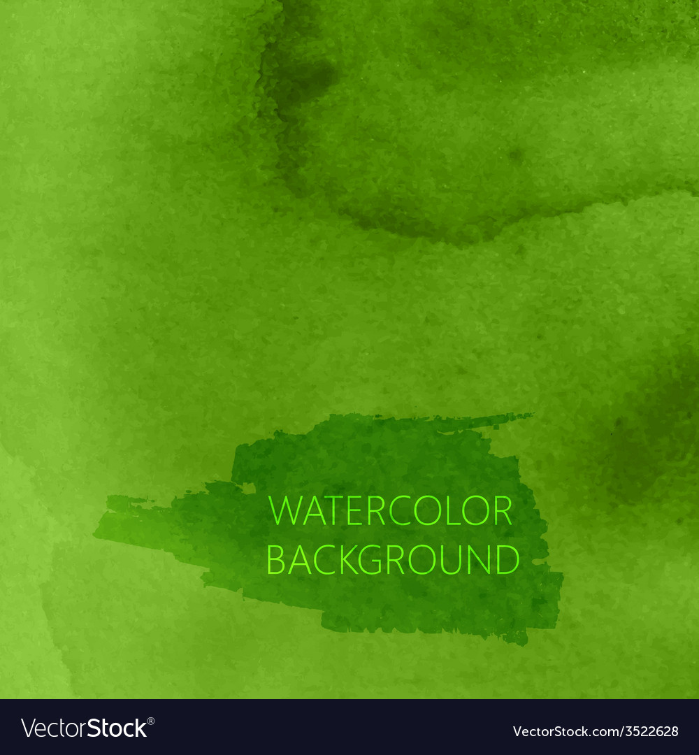 Abstract green watercolor background for your vector | Price: 1 Credit (USD $1)