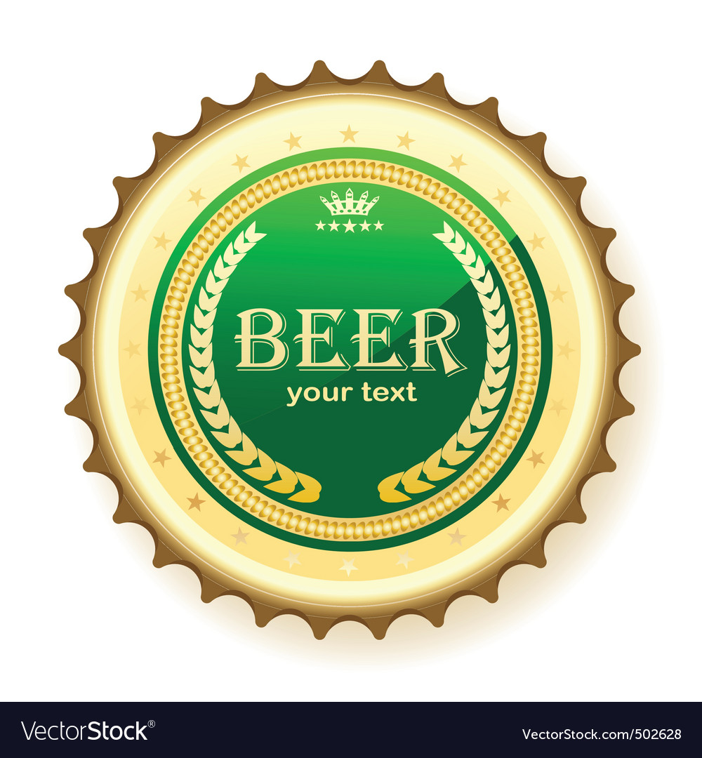 Beer bottle cap vector | Price: 1 Credit (USD $1)
