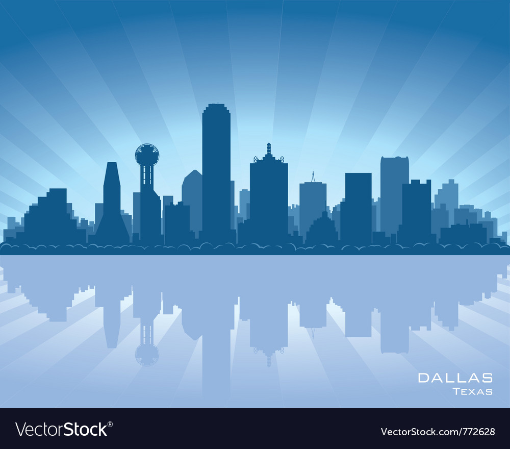 Dallas texas skyline vector | Price: 1 Credit (USD $1)