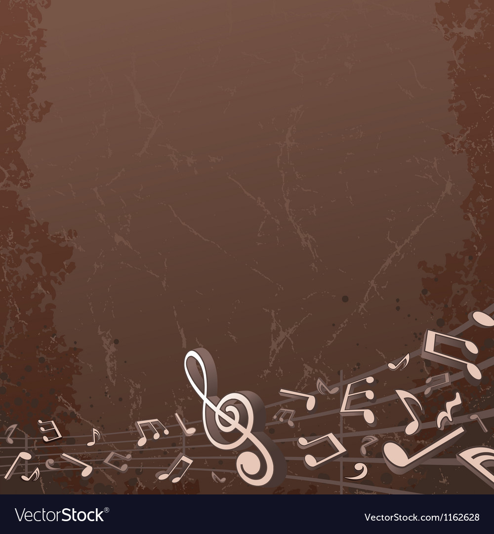 Grunge musical background backdrop image vector | Price: 1 Credit (USD $1)