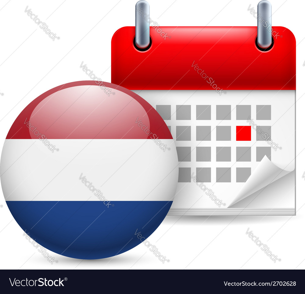 Icon of national day in netherlands vector | Price: 1 Credit (USD $1)