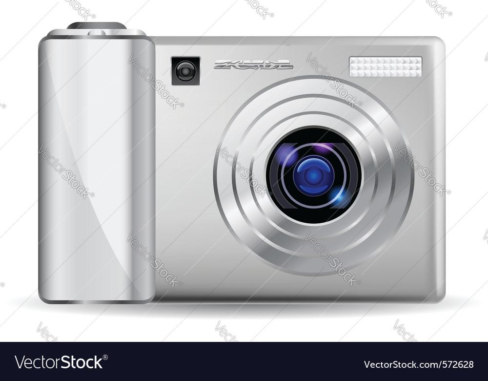 Realistic digital camera vector | Price: 1 Credit (USD $1)